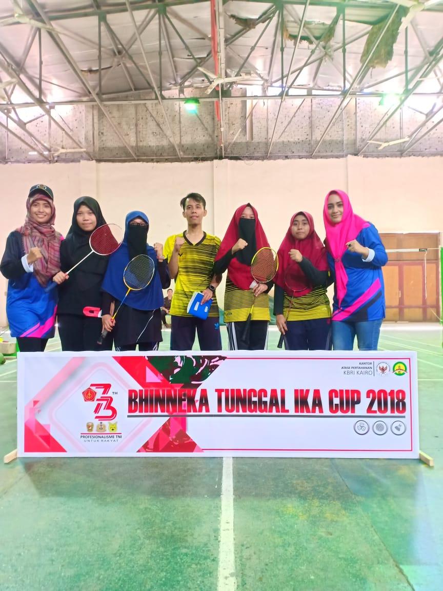 Juara II lomba Badminton Ganda Putri Athan